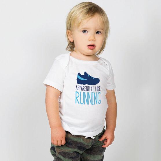 Running Baby T-Shirt - Apparently, I Like Running