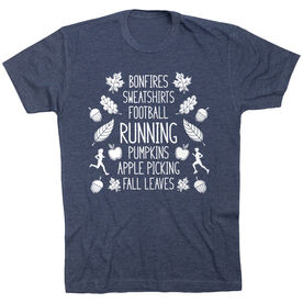 Running Short Sleeve T- Shirt - Fall Running