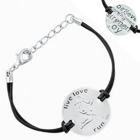 Live Love Run Mantra Cord Bracelet