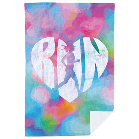 Running Premium Blanket - Love To Run Watercolor