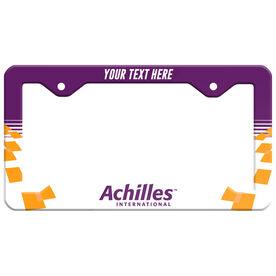 Running License Plate Holder - Achilles International - Nashville Logo