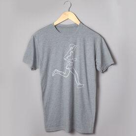 Running Short Sleeve T-Shirt - Runner Guy Sketch