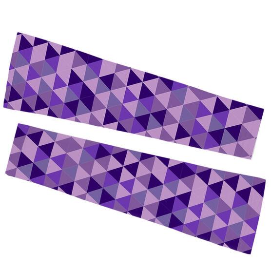 Running Printed Arm Sleeves - Geometric Pattern