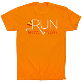 Running Short Sleeve T-Shirt - Let's Run Now Gobble Later