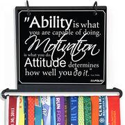 BibFOLIO+™ Race Bib and Medal Display Ability, Motivation, & Attitude Quote - Artist Style