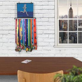 BibFOLIO+™ Race Bib and Medal Display - Runner Girl Faux Glitter Chevron