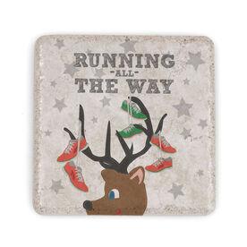 Running Stone Coaster - Runner Reindeer