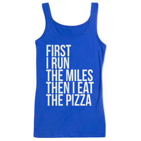Women's Athletic Tank Top - Then I Eat The Pizza