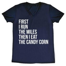 Women's Running Short Sleeve Tech Tee - Then I Eat The Candy Corn