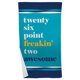 Running Beach Towel - Awesome Mantra