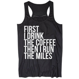 Flowy Racerback Tank Top - Then I Run The Miles