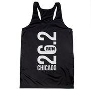 Women's Racerback Performance Tank Top - Chicago 26.2 Vertical