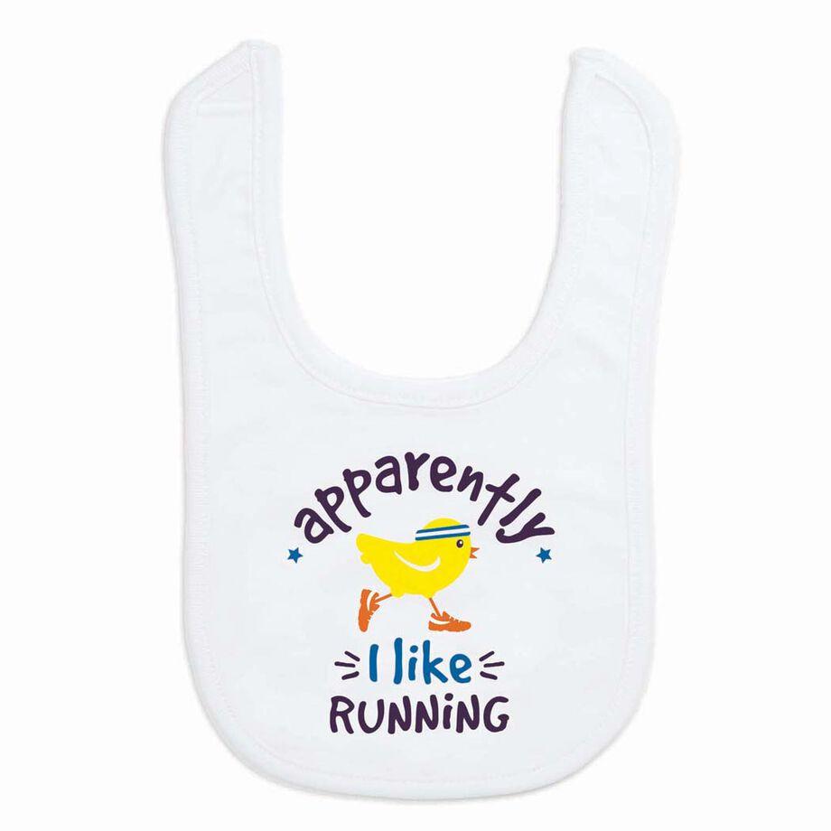 Running Baby Bib - Apparently I Like Running
