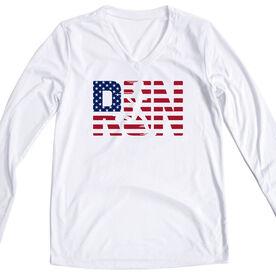 Women's Long Sleeve Tech Tee - Run Girl USA