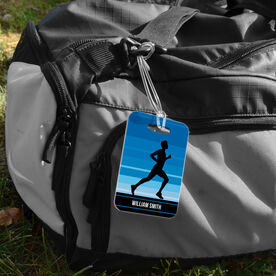 Running Bag/Luggage Tag - Personalized Runner Guy