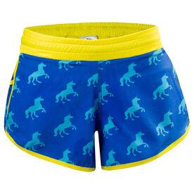 Women's Running Shorts - Boston Unicorn