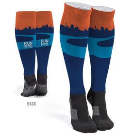 Running Printed Knee-High Socks - New York City Skyline