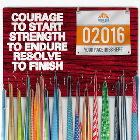 Hooked On Medals Bib & Medal Display Courage To Start