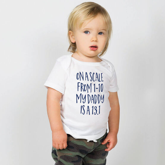 Running Baby T-Shirt - My Daddy Is A 13.1