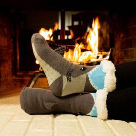 Shark Slipper Socks with Sherpa Lining