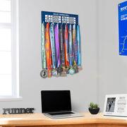 Running Hooked on Medals Hanger - Custom PR Houndstooth (Dry Erase)
