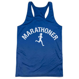 Women's Racerback Performance Tank Top - Marathoner Girl