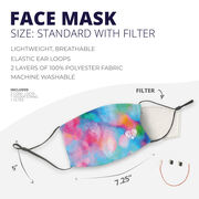 Running Face Mask - Love the Run Watercolor Simple