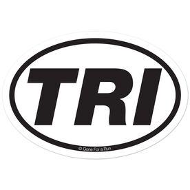 TRI Decal (White/Black)