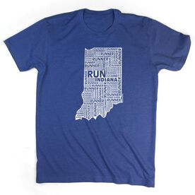 Running Short Sleeve T-Shirt - Indiana State Runner