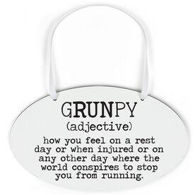 Running Oval Sign - Grunpy