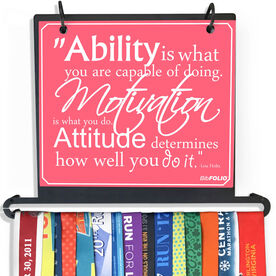 BibFOLIO Plus Race Bib and Medal Display Ability, Motivation, & Attitude Quote - Artist Style