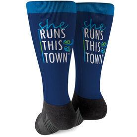 Running Printed Mid-Calf Socks - SRTT