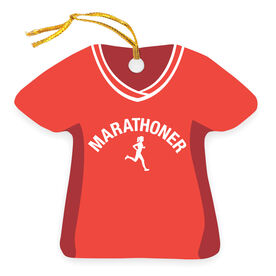 Running Ornament - Marathoner Girl Shirt