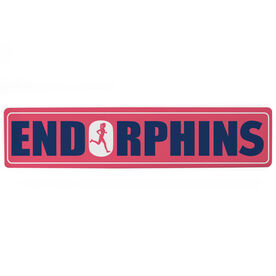 "Running Aluminum Room Sign - Endorphins Girl (4""x18"")"