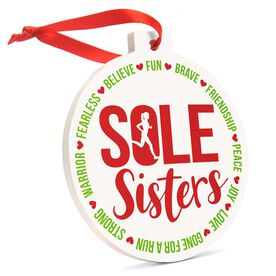Running Round Ceramic Ornament - Sole Sister Words