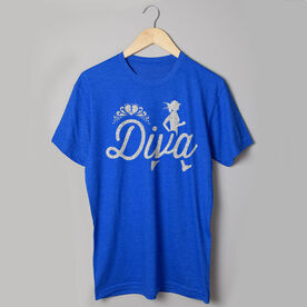 Running Short Sleeve T-Shirt - Running Diva Glitter