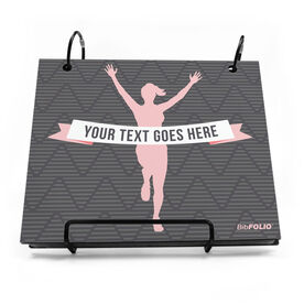 BibFOLIO® Race Bib Album - Female Runner Personalized