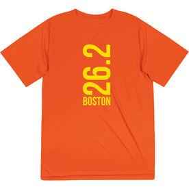 Men's Running Short Sleeve Tech Tee - Boston 26.2 Vertical