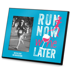 Running Photo Frame Run Now Wine Later (Distressed)