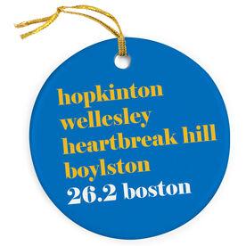 Running Porcelain Ornament - 26.2 Boston Mantra