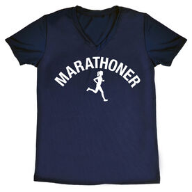 Women's Running Short Sleeve Tech Tee - Marathoner Girl