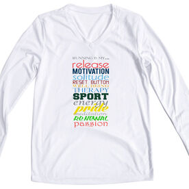 Women's Customized White Long Sleeve Tech Tee Running Is My Passion