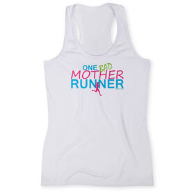 Women's Performance Tank Top One Bad Mother Runner (White)