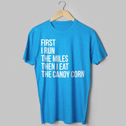 Running Short Sleeve T-Shirt - Then I Eat The Candy Corn