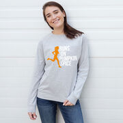 Running Raglan Crew Neck Sweatshirt - Runs On Pumpkin Spice