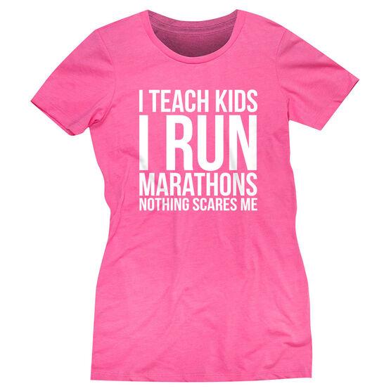 Women's Everyday Runners Tee - I Teach Kids I Run Marathons