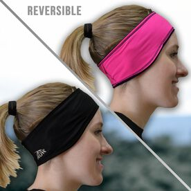 Running Reversible Performance Headband - Pink/Black