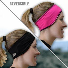 Running Reversible Performance Headband - Pink/Black