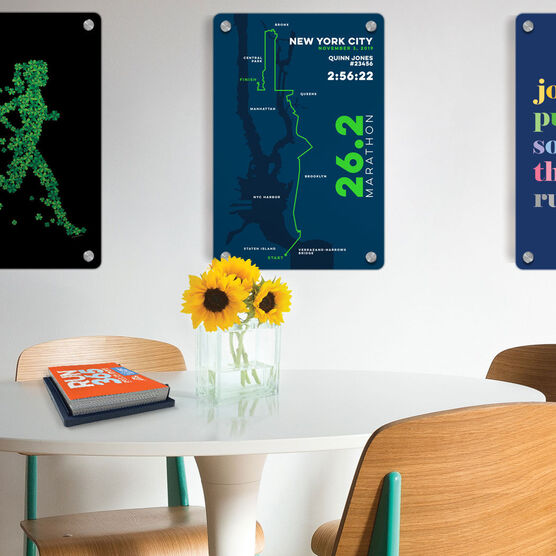 "Running 18"" X 12"" Wall Art - Personalized New York City Map"