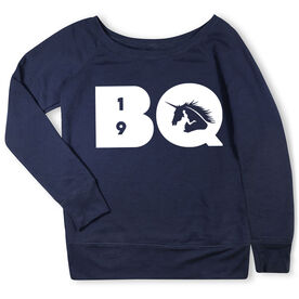 Running Fleece Wide Neck Sweatshirt - BQ Unicorn with Year